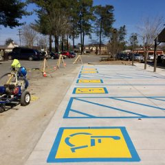 Parking Lot ADA Handicap Striping and Signs