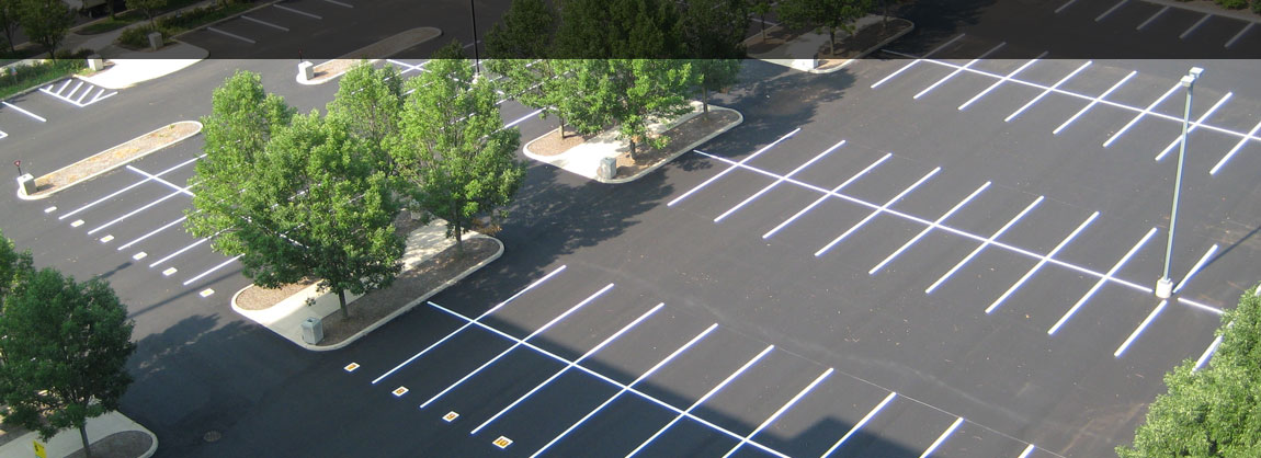 Parking Lot Striping and Stenciled Numbers